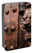 Mahogany Lion Heads Portable Battery Charger