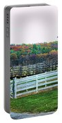 Mail Pouch Tobacco Barn In The Fall Portable Battery Charger
