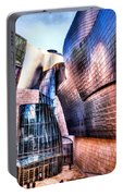 Main Entrance Of Guggenheim Bilbao Museum In The Basque Country Spain Portable Battery Charger