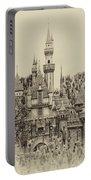 Main Street Sleeping Beauty Castle Disneyland Heirloom 01 Portable Battery Charger