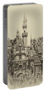 Main Street Sleeping Beauty Castle Disneyland Heirloom 03 Portable Battery Charger