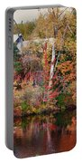 Maine Barn Through The Trees Portable Battery Charger by Jeff Folger
