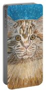 Maine Coon Cat Portable Battery Charger by Kathy Marrs Chandler