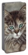 Maine Coon Portable Battery Charger by Tobiasz Stefaniak