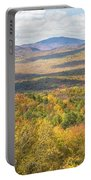 Maine Mountains In Fall Mount Blue State Park  Portable Battery Charger