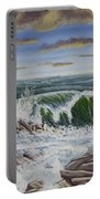Crashing Waves At Pemaquid Point Maine Portable Battery Charger