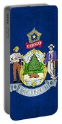 Maine State Flag Portable Battery Charger