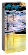 Maine Winter Along The Androscoggin River Portable Battery Charger
