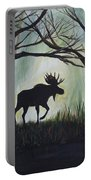 Majestic Bull Moose Portable Battery Charger by Leslie Allen
