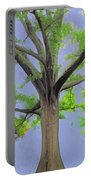 Majestic Tree With Birds Nest Portable Battery Charger