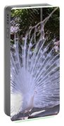 Majestic White Peafowl Portable Battery Charger