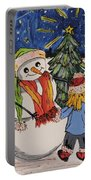Make A Wish Snowman Portable Battery Charger