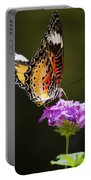 Malay Lacewing On A Flower  Portable Battery Charger