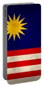 Malaysia Flag Vintage Distressed Finish Portable Battery Charger