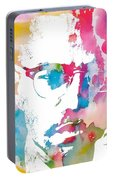 Malcolm X Watercolor Portable Battery Charger