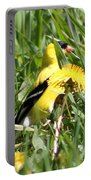Male American Goldfinch Camouflage Portable Battery Charger