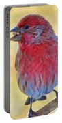Male Housefinch - Digital Paint Portable Battery Charger