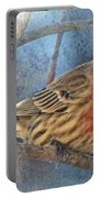 Male Housefinch Close View Portable Battery Charger