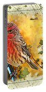 Male Housefinch Photoart Portable Battery Charger