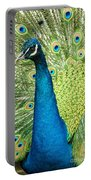 Male Indian Peacock Portable Battery Charger