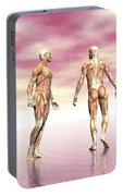 Male Muscular System From Four Points Portable Battery Charger