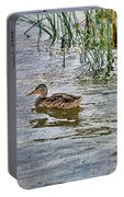 Mallard By The Reeds Portable Battery Charger