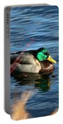 Mallard Drake Passing  Portable Battery Charger