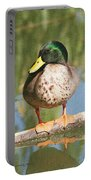 Mallard Duck On Log Portable Battery Charger