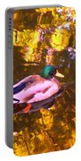 Mallard Duck On Pond 1 Portable Battery Charger
