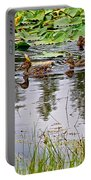 Mallard Ducks In Heron Pond In Grand Teton National Park-wyoming  Portable Battery Charger