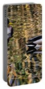 Mallards In The Reeds Portable Battery Charger