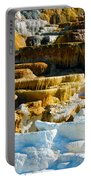 Mammoth Hot Springs Rock Formation No1 Portable Battery Charger