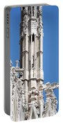 Man And Dragon Gargoyles With Tower Duomo Di Milano Italia Portable Battery Charger