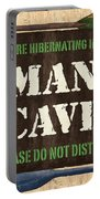 Man Cave Do Not Disturb Portable Battery Charger by Debbie DeWitt