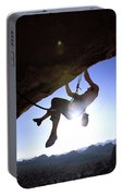 Man Climbing On An Overhang In Joshua Portable Battery Charger