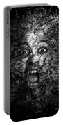 Man Eyes Face Horror Portrait Black And White  Portable Battery Charger