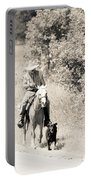 Man Horse And Dog Portable Battery Charger