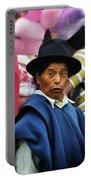 Man Of Cotacachi Ecuador Portable Battery Charger