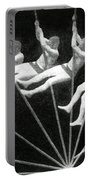 Man Pole Vaulting 1884 Portable Battery Charger by Nypl