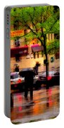 Reflections - New York City In The Rain Portable Battery Charger