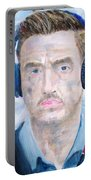 Man With Headphones Portable Battery Charger