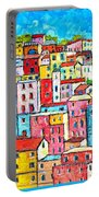 Manarola Colorful Houses Painting Detail Portable Battery Charger