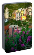 Manarola Flowers And Houses Portable Battery Charger