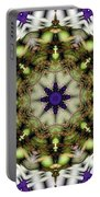 Mandala 21 Portable Battery Charger by Terry Reynoldson