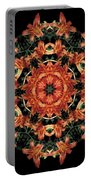 Mandala Daylily Portable Battery Charger