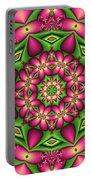 Mandala Green And Pink Portable Battery Charger