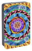 Mandala Wormhole 101 Portable Battery Charger by Derek Gedney