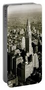 Manhattan And Chrysler Building II Portable Battery Charger