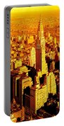Manhattan And Chrysler Building Portable Battery Charger