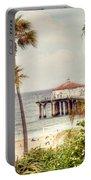 Manhattan Beach Pier Portable Battery Charger by Juli Scalzi